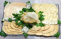 Käse und Salami-Schinkensorten